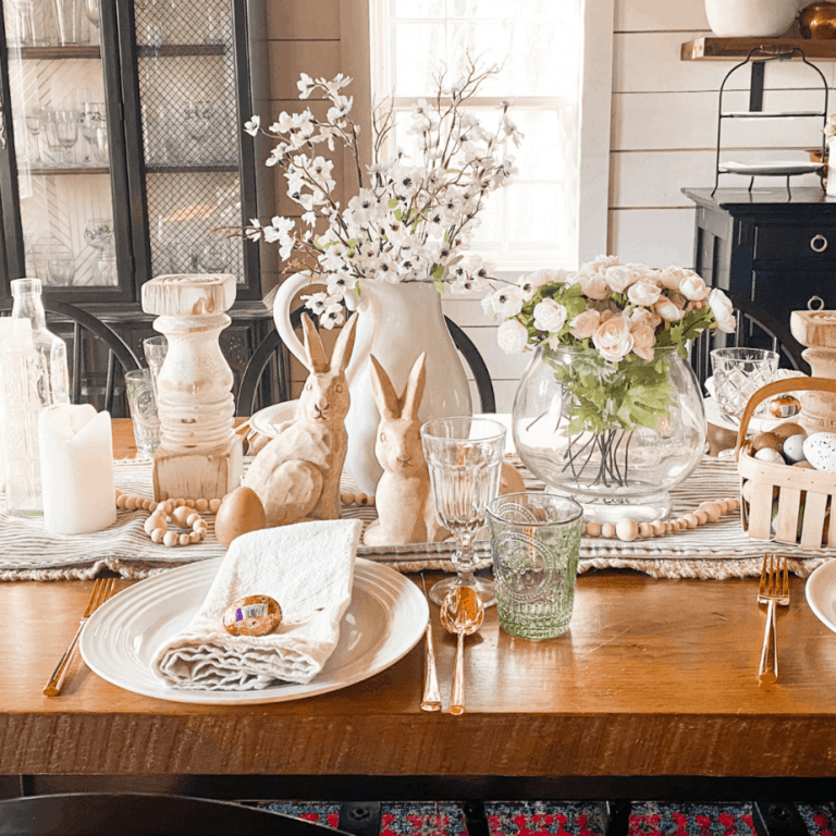 6 simple steps to creating an easy Easter tablescape this Spring