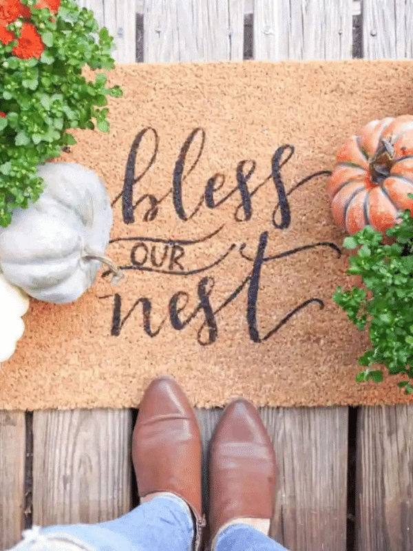 Fall round up, Fall welcome mat