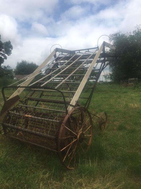 The hay loader from the back.