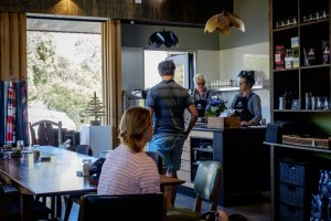 The Farm Shed East Coast Wine Centre offers a friendly and relaxed environment to enjoy a coffee, light meal, refreshments, and to taste and purchase wines from the region's vineyards