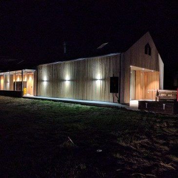 The Farm Shed by night