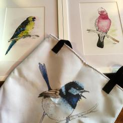 Birds in various forms by Lucie, now available at The Farm Shed