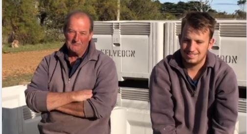 Jack and Ed grow wine grapes on their property Kelvedon, a few kilometers south of Swansea on Tasmania's East Coast