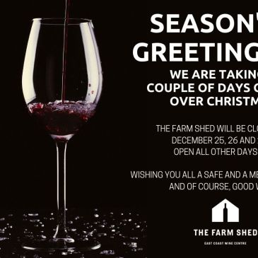 The Farm Shed will be closed Christmas Day, Boxing Day and 27 December, 2020