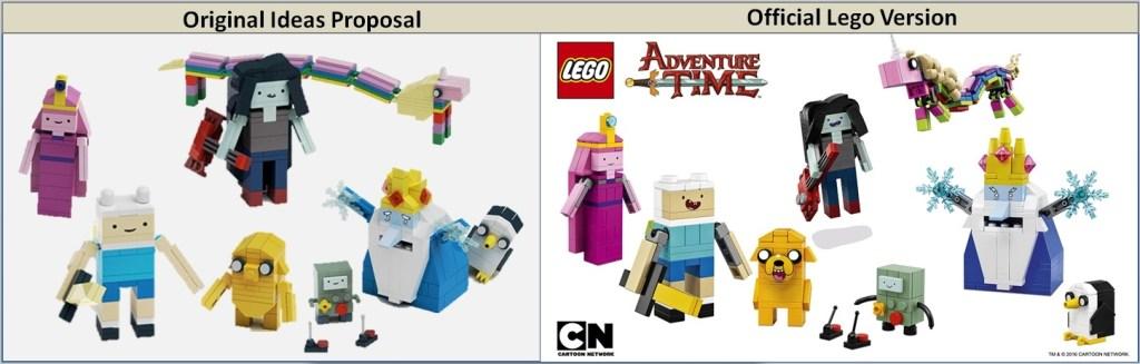 Lego Adventure Time Comparison