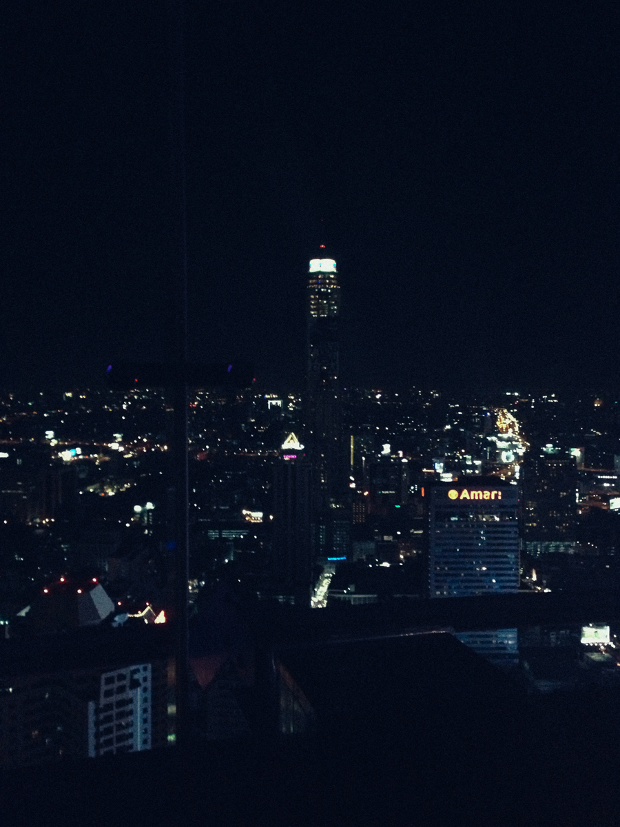 Bangkok view at night from Red Sky Centara.