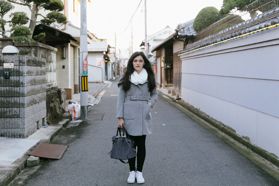 Japanese street style outfit.