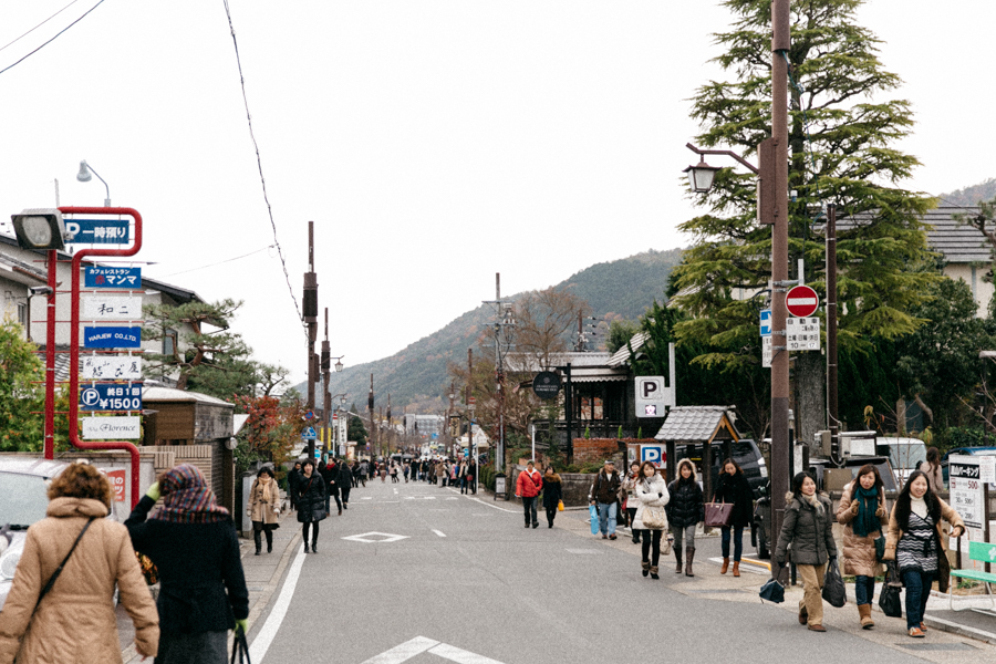 The streets ok Arashiyama. Kyoto photo diary.