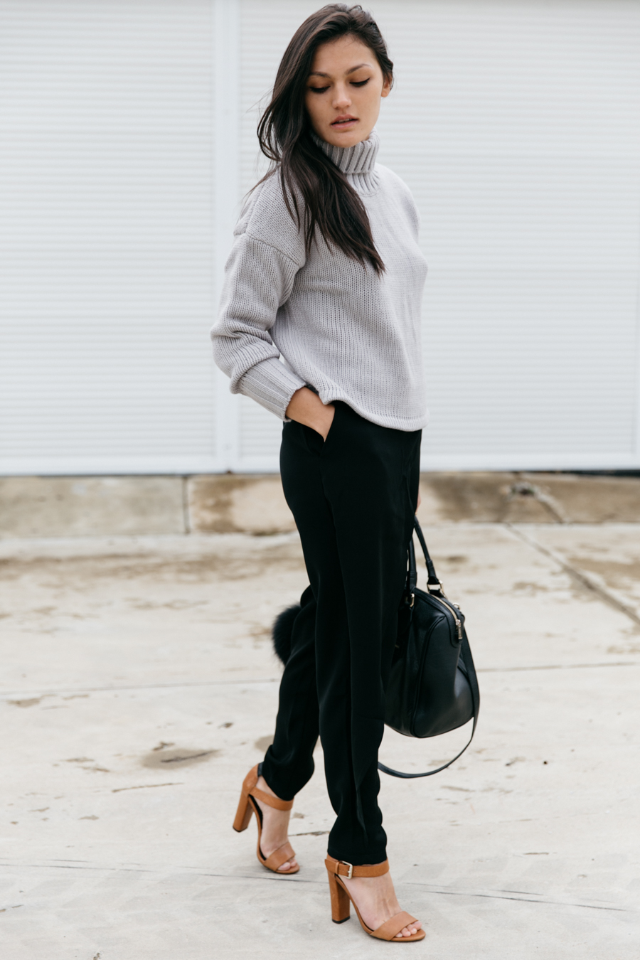 Perth fashion blogger. Roll neck sweater outfit.