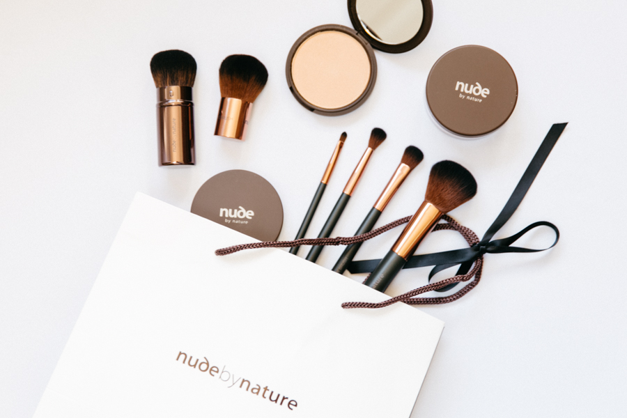 Nude By Nature Essential Collection makeup brush set.