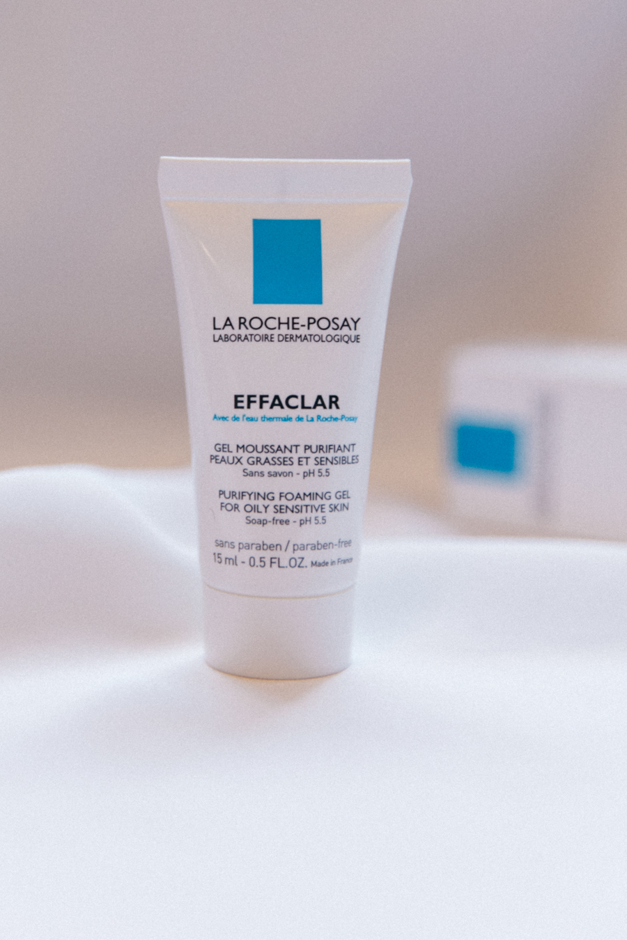 La-Roche Posay purifying foaming gel.