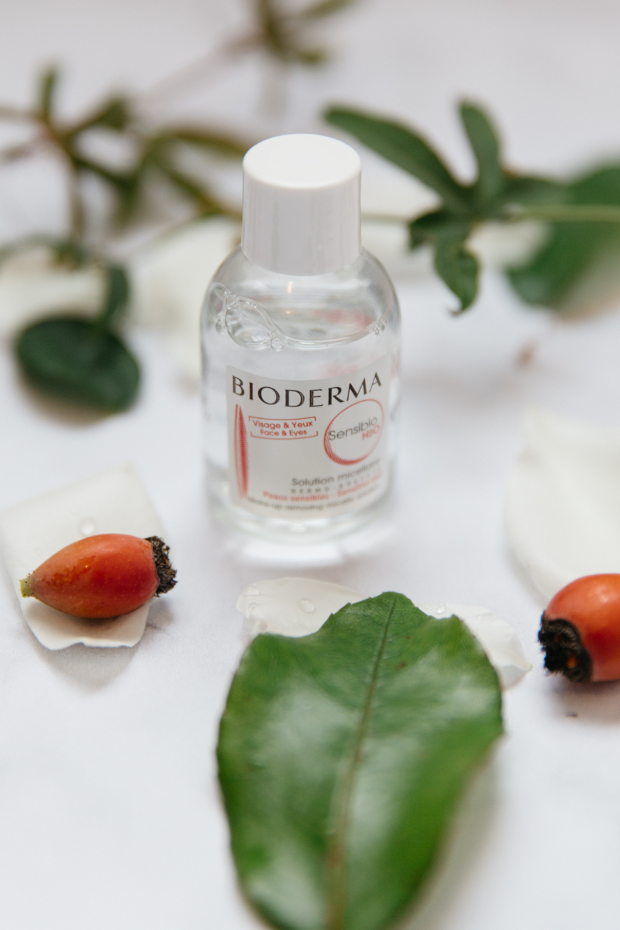 Bioderma makeup removing micelle solution.