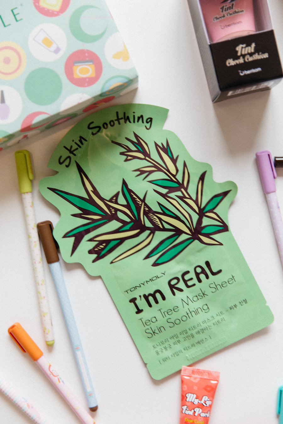 Tony Moly Skin Soothing I'm Real mask.