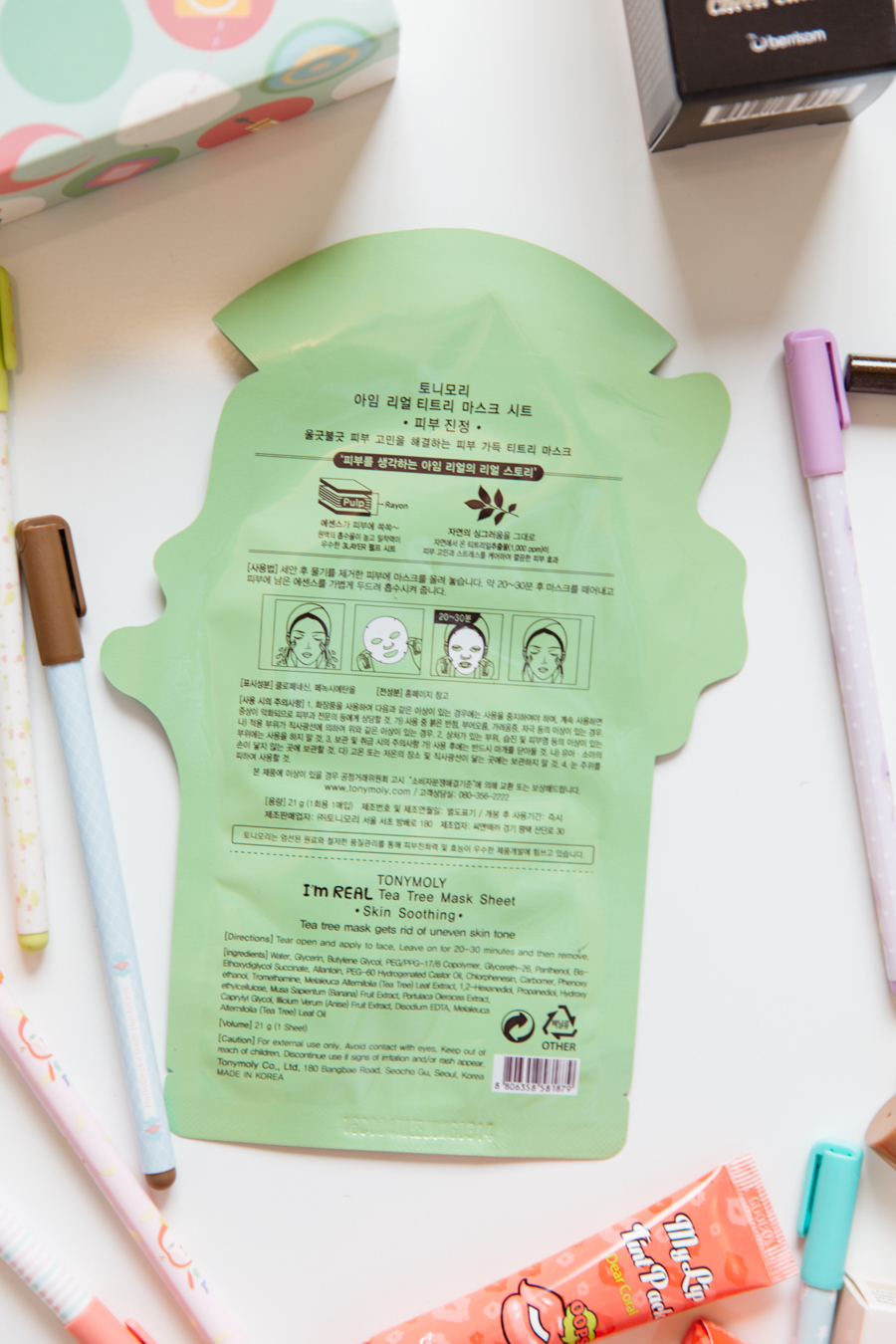 Korean skin masks.