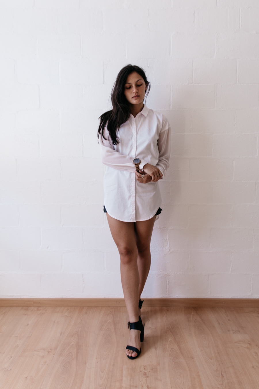 Oversized shirt outfit. Gluestore review.