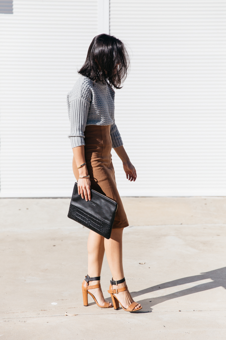 How to style a brown pencil skirt. Why you need a brown pencil skirt.