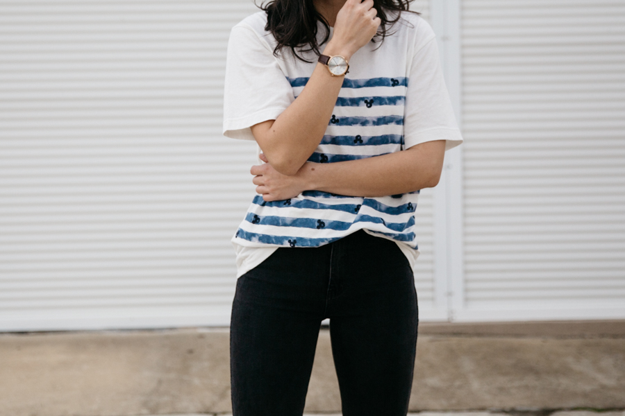 Men's tee girl outfit.