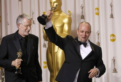 Mark Coulier and J. Roy Helland winning the Oscar for The Iron Lady