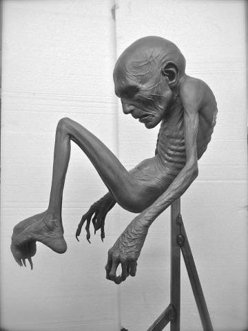 a sculpture of Voldemort as a baby made by Mark Coulier