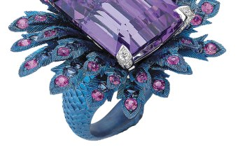 Webster's high jewellery collection is known for its bright stones