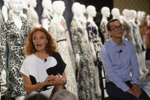 Michael Herz, right, will debut his first runway collection as artistic director for Diane von Furstenberg.