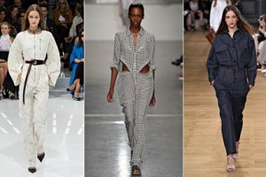 Boilersuits on the catwalks from Christian Dior, Richard Nicoll and Chloé
