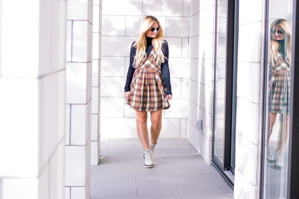 51bad41576c Plaid and I have a love affair. It s one of my favorite patterns to wear  and this plaid mini dress was perfection the moment I laid my eyes on it.