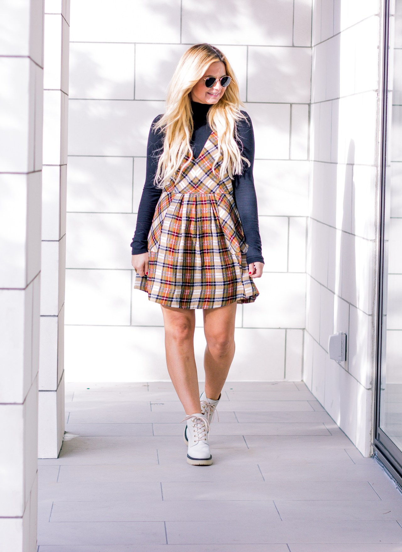 The Plaid Mini Dress You Need this Fall