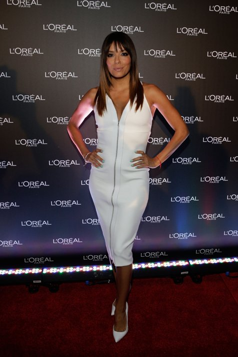 Eva Longoria On The Red Carpet At Virgin Australia Melbourne Fashion Festival's L'Oréal Paris Cocktail Party