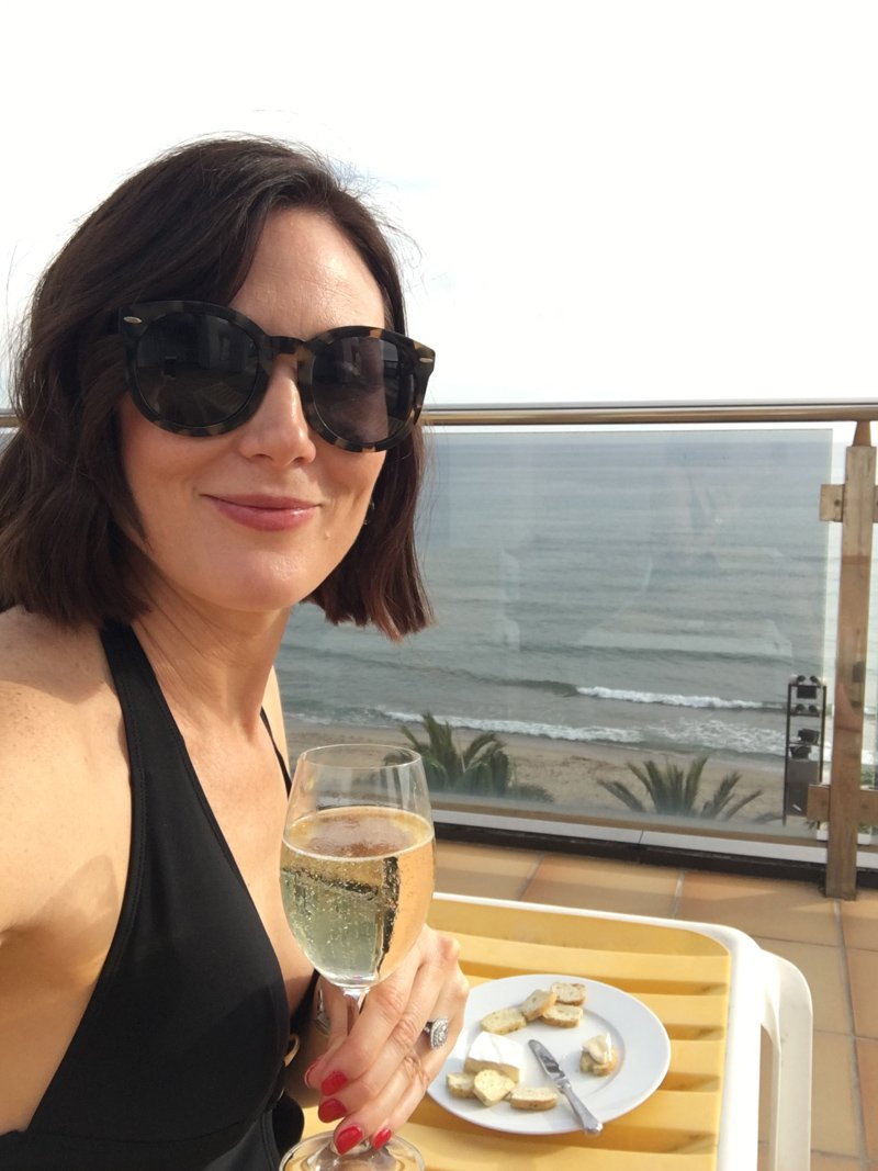 vicky sofield relaxing in spain