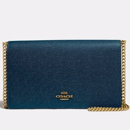 Coach Callie foldover mini chain clutch