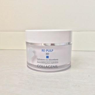Il barattolo della Crema Viso Collagenil Re Pulp 3D, perfetta per rimodellare il viso