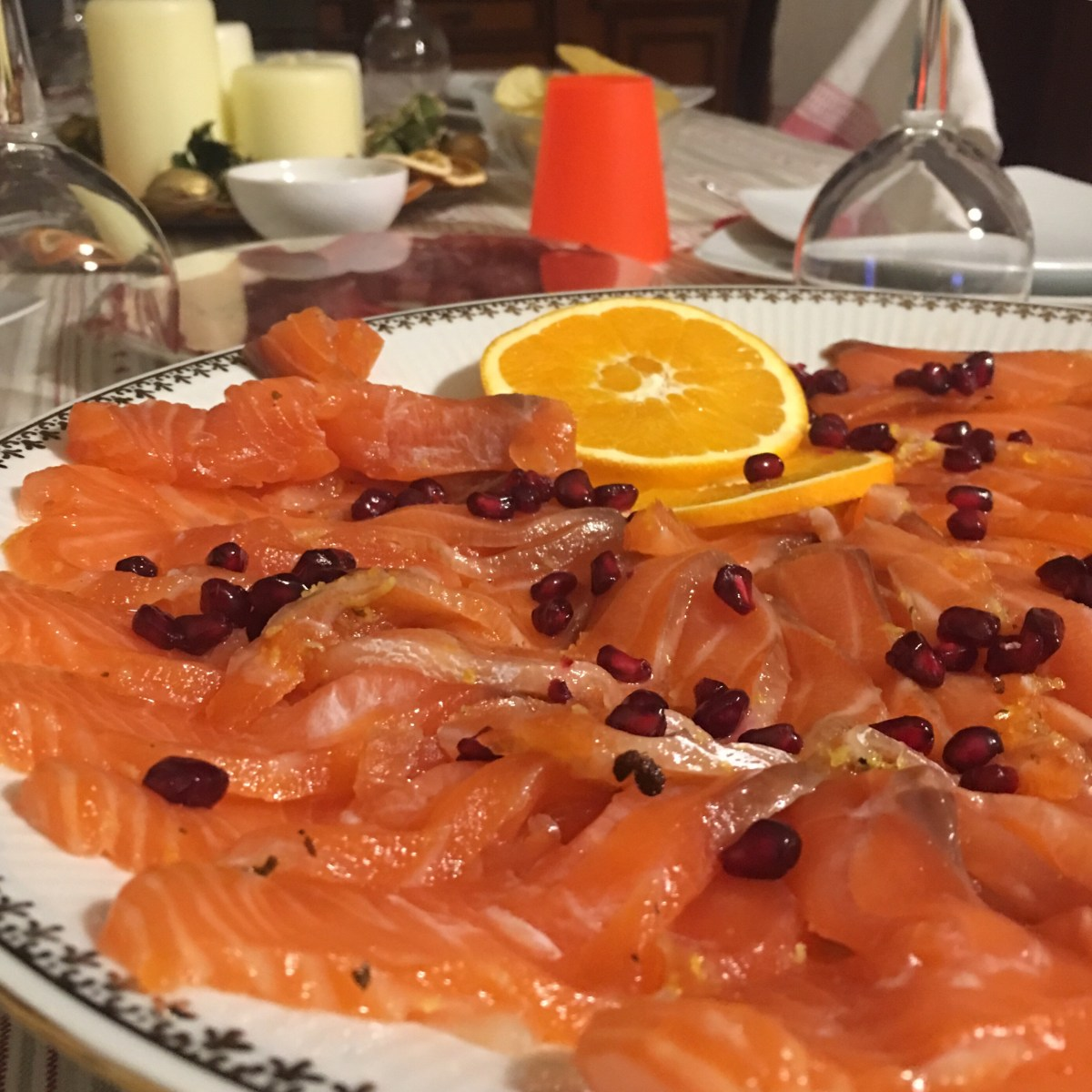 Carpaccio di salmone: il piatto finito