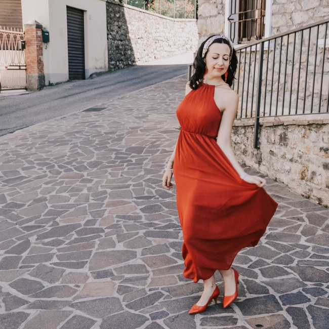 abito rosso groupon 2