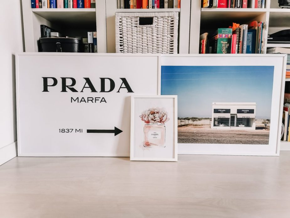 The Fashion Cherry Diary poster Desenio con Prada Marfa