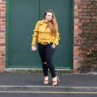 OOTD: bold shades and frills