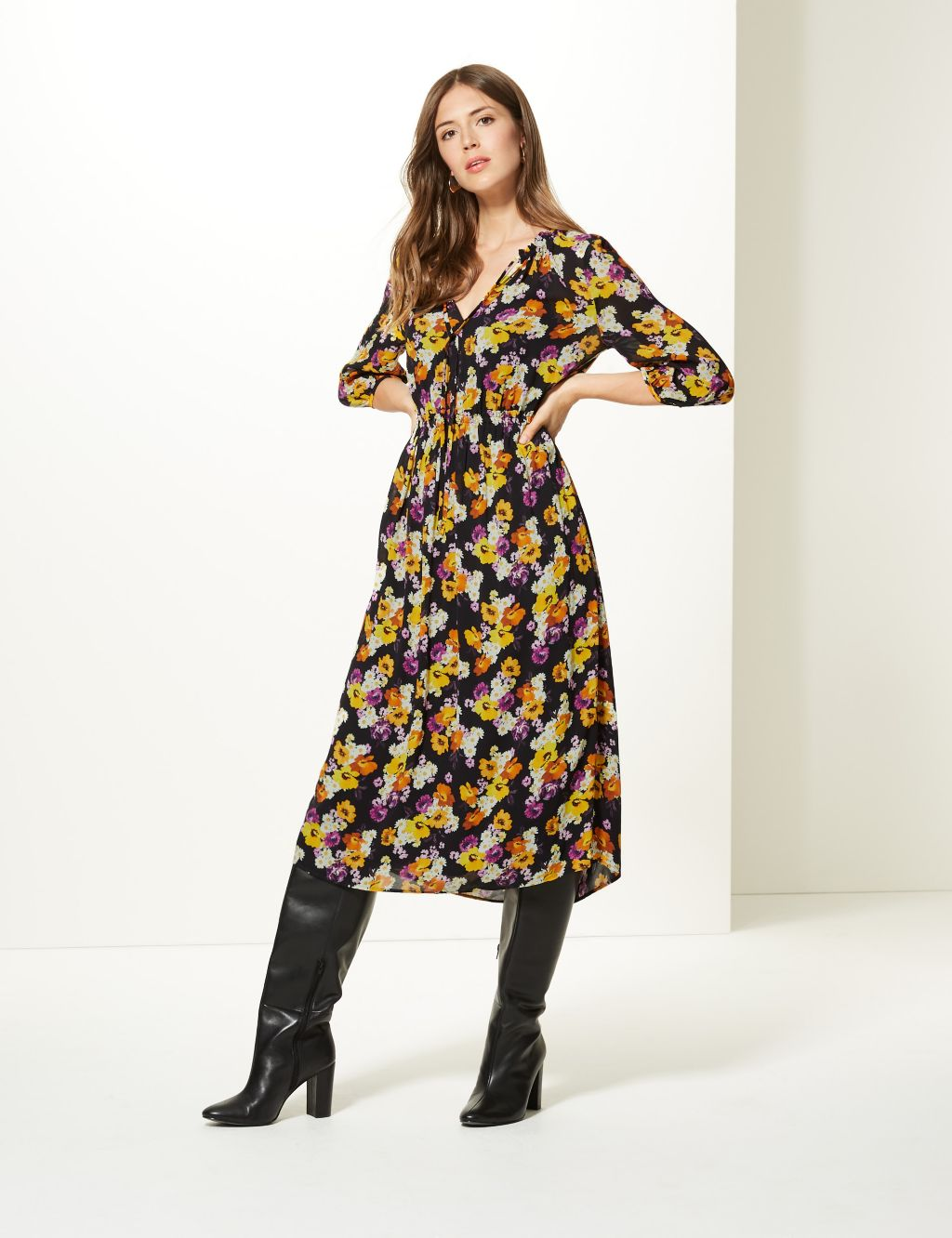 M&S Collection floral dress