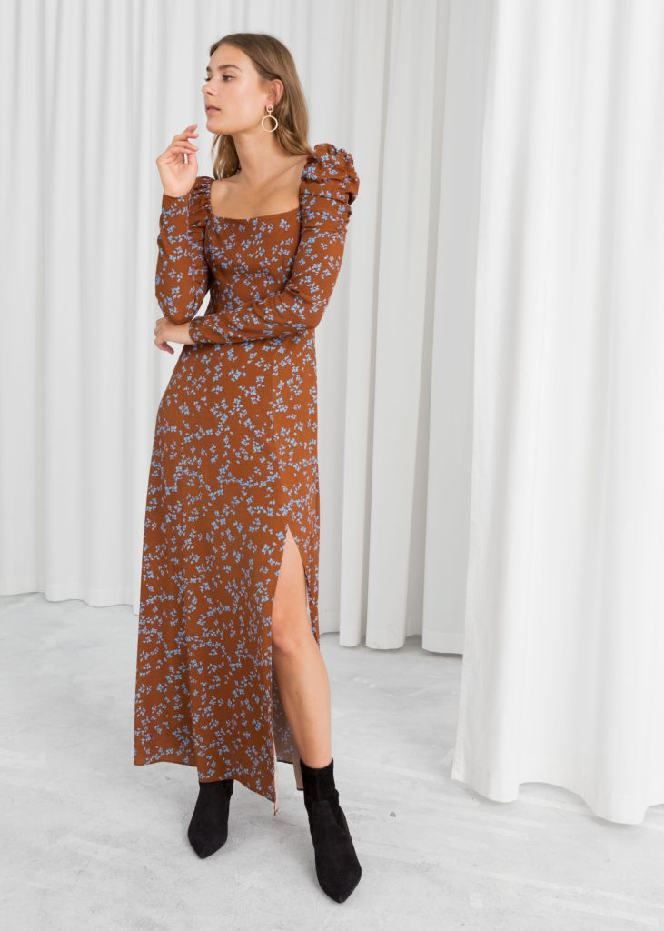 ruched floral maxi dress by & Other Stories