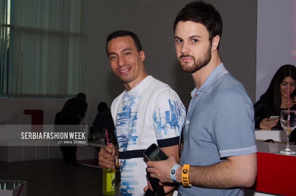 Patrizio Brunelli and GQ Italy Editor Nicoló Russian