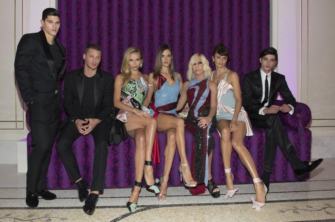 Trevor Signorino; Vadim Ivanov; Natasha Poly; Alessandra Ambrosio; Donatella Versace; Helena Christensen; Tarik Lakehal