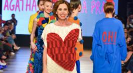 Designer Agatha Ruiz de la Prada after th presentation of her Fall Winter 2017/18 collection at the Romanian Fashion Philosophy Fashion Week.