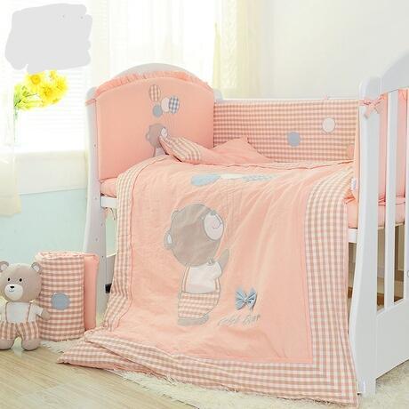 Baby bedding set baby bed set jogo de cama kit bebe crib organizer baby crib set with bumper Washed cotton hot new 10 pieces/set - thefashionique