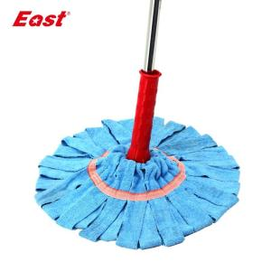 East Hand-free Twist Mop Rotary Floor Washing Mop Microfiber Head Lazy Mop House Cleaning Tools - thefashionique