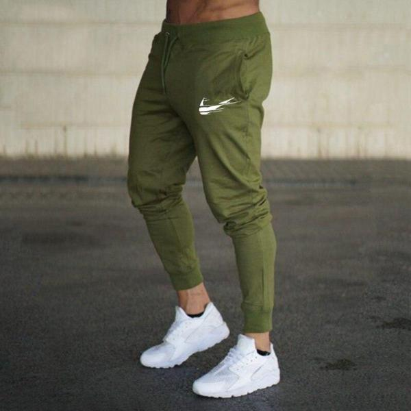 New Cotton Men Full Sportswear Pants Casual Elastic Cotton Mens Fitness Workout Pants Skinny Sweatpants Trousers Jogger Pants - thefashionique