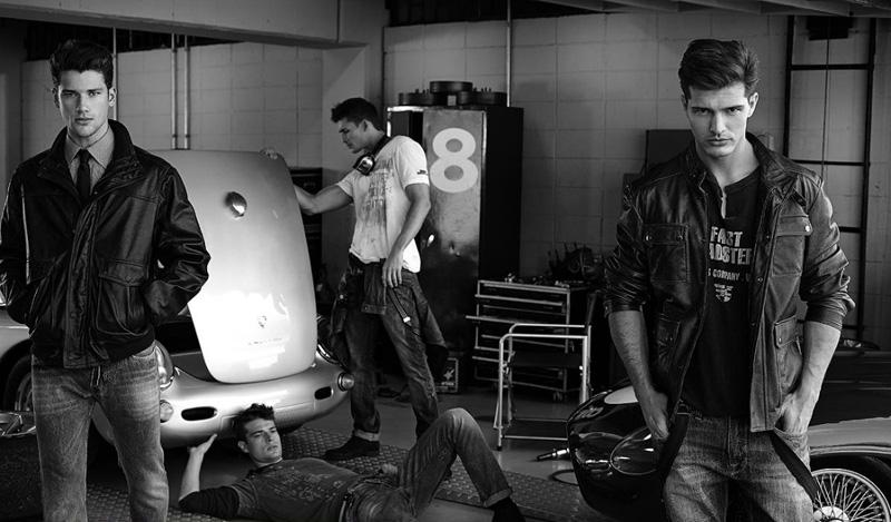 5 Arthur Sales, Diego Miguel, Jean Carlos &  Jordão Altmann by Cristiano Madureira for Vila Romana Fall 2011 Campaign