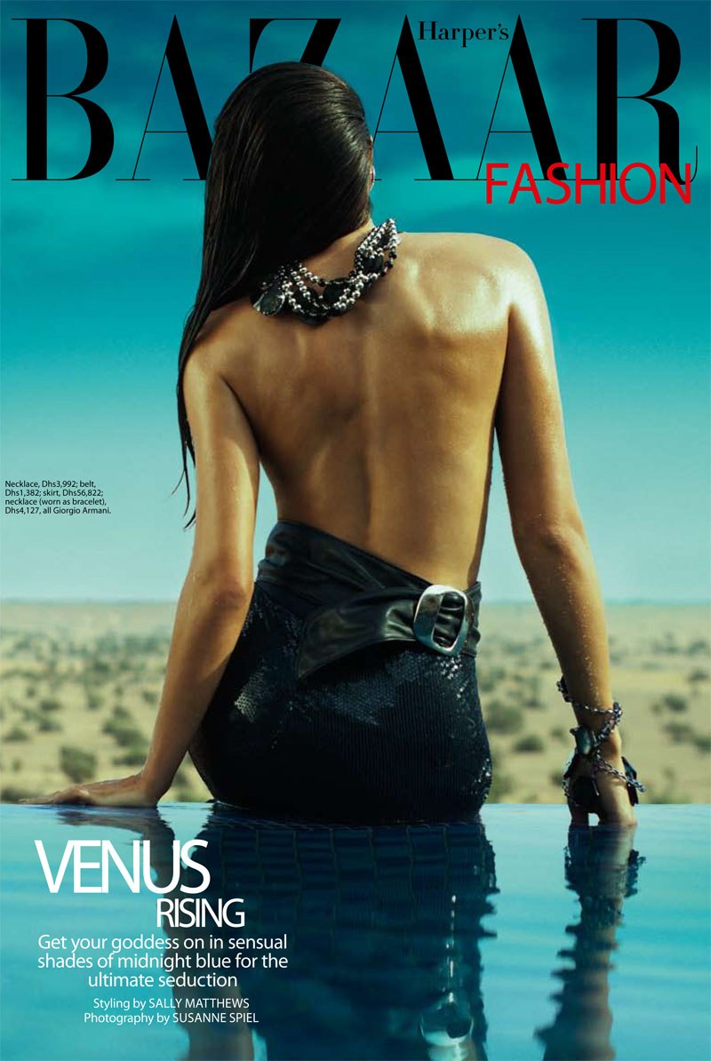 armani1 Vanessa in Giorgio Armani for <em>Harpers Bazaar Arabia</em> April 2011