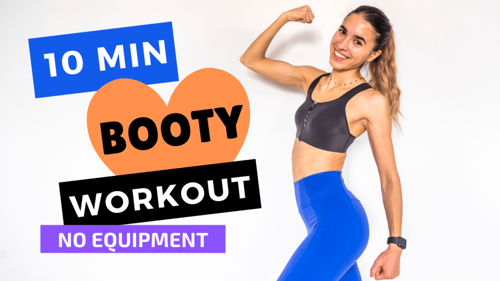10 MIN BOOTY WORKOUT AT HOME   The Fashion Jogger