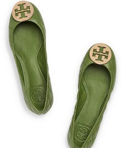 Green Tory Burch ballet flat