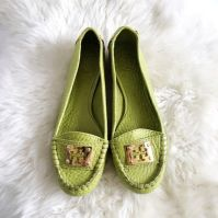 These Lime Green Tory Burch Loafer Flats will add an electric pop of color to any outfit!