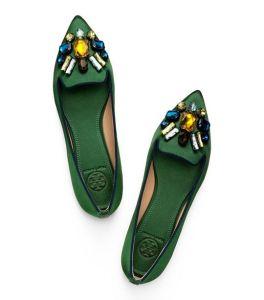 Tory Burch Mayada Satin Smoking Slippers